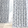 Celtic Blue Printed Cotton Twill Curtain