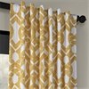 Celtic Gold Printed Cotton Twill Curtain