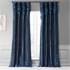 Navy Blue Faux Silk Taffeta