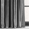 Graphite Blackout Faux Silk Taffeta Curtain