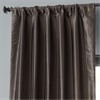 Mushroom Blackout Faux Silk Taffeta Curtain