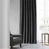 Jet Black Faux Silk Taffeta