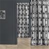 Royal Gate Silver & Black Flocked Faux Silk Curtain