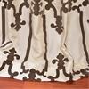 Royal Gate Flocked Faux Silk Taffeta Curtain