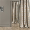 Firenze Silver & Gold Flocked Faux Silk Curtain