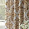 Tiera Gold Printed Faux Silk Taffeta Blackout Curtain