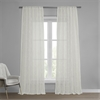 Marseille Shell Patterned Faux Linen Sheer Curtain