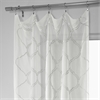 Florentina Silver Embroidered Sheer Curtain