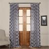 Birmingham Blue Printed Sheer Curtain