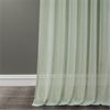 Rio Sky Solid Faux Linen Sheer Curtain