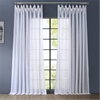 Signature Double Layered & Extra Wide White Sheer Curtain