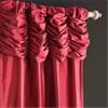 Ruched Bold Red Thai Silk Curtain