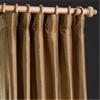 Dusty Gold Thai Silk Curtain