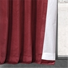 Red Vintage Cotton Velvet Curtain