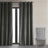 Signature Gunmetal Grey Grommet Blackout Velvet Curtain