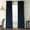 Signature Midnight Blue Extra Wide Grommet Blackout Velvet Curtain