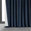Signature Midnight Blue Extra Wide Velvet Blackout Pole Pocket Curtain
