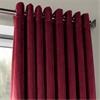 Signature Burgundy Extra Wide Grommet Blackout Velvet Curtain
