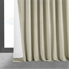 Signature Cool Beige Extra Wide Blackout Velvet Curtain