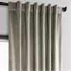 Gallery Taupe Plush Velvet Curtain