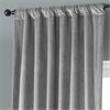 Destiny Grey Plush Velvet Curtain