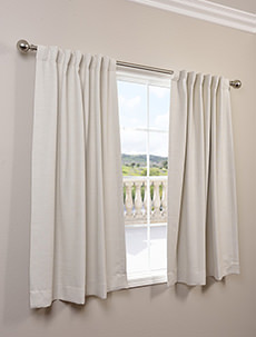63Inch Bellino Textured Pole Pocket Back Tab Curtains