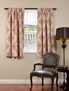 63Inch Printed Blackout  Grommet Curtains