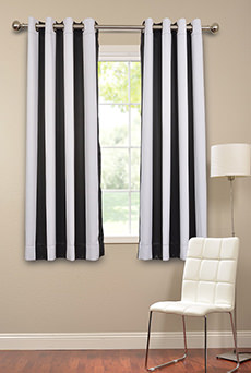 63Inch Printed Blackout  Pole Pocket Back Tab  Curtains