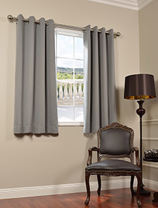 63Inch Solid Blackout Grommet Curtains