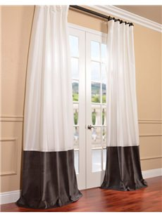 Banded Faux Silk Taffeta Curtains