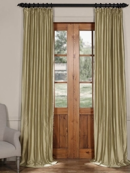 Cotton Silk Solid Curtains