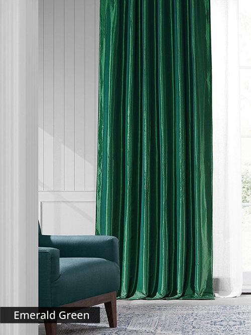 Faux Silk Taffeta Curtains