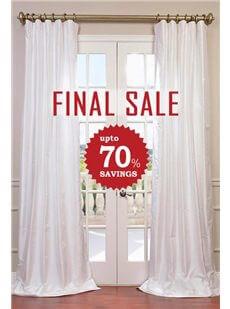 FINAL SALE - Solid Faux Silk Curtains