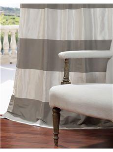 Horizontal Faux Silk Taffeta Stripes