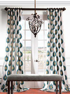 Signature Printed Cotton Twill Curtains
