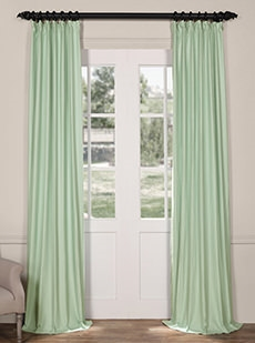 Solid Cotton Linen Blend Curtains
