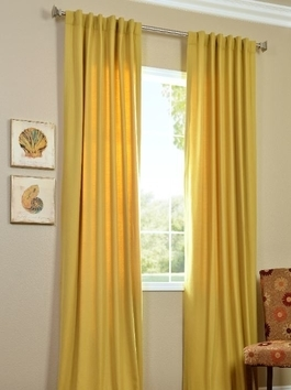 Solid Cotton Twill Curtains