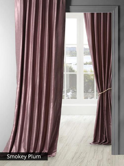 Vintage Textured Faux Dupioni Silk Curtains