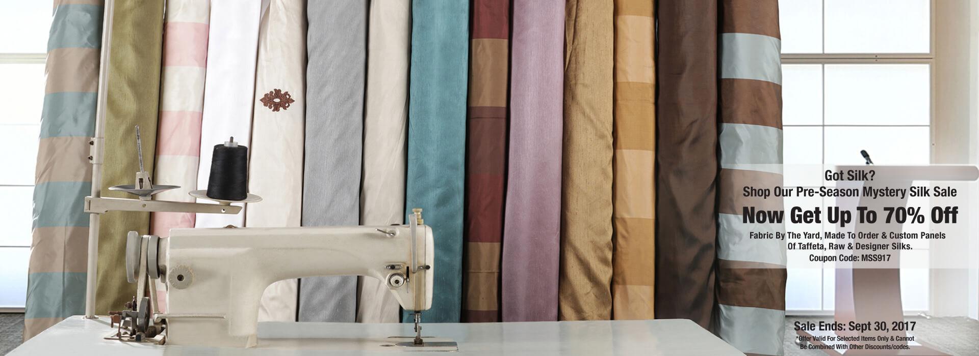 Silk Curtains Sale