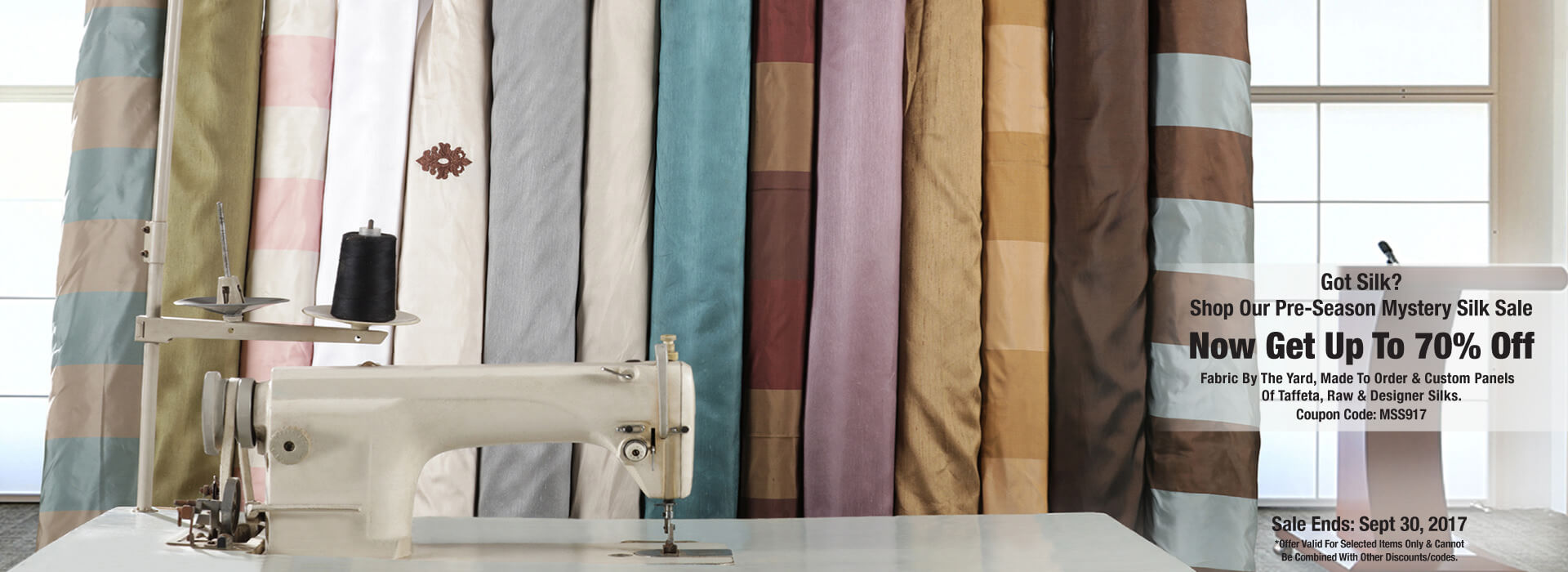 Silk Curtains Sale