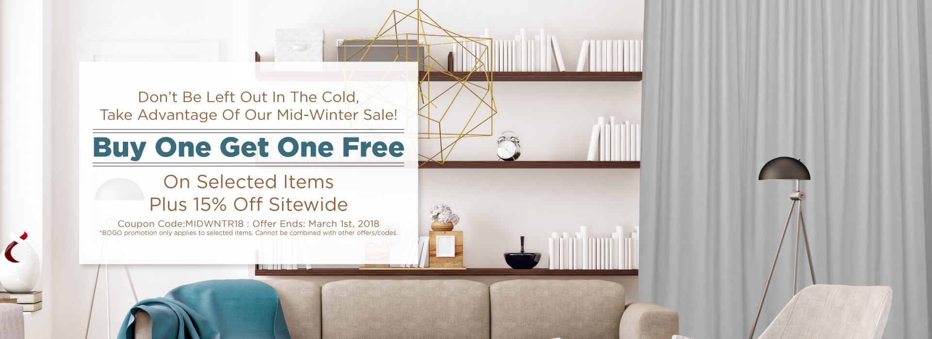 Buy One, Get One Free - On Selected Items Only