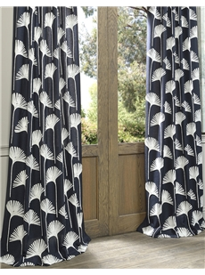 Embroidered Faux Linen Crewel Curtains