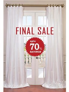 FINAL SALE - Pattern Faux Silk Curtains