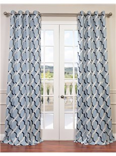 Printed Grommet Blackout Curtains