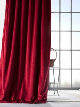 Vintage Cotton Velvet Curtains