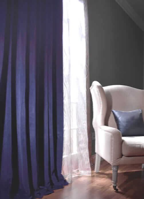 Striped Faux Silk Curtains