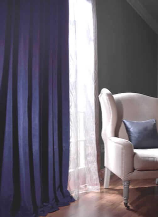 Striped Faux Silk Curtains