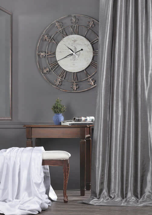 Solid Faux Silk Curtains