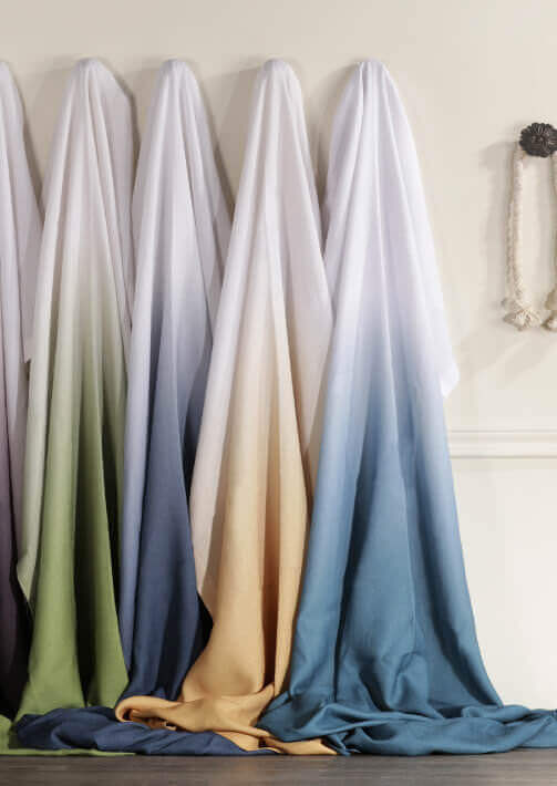 Printed Faux Linen Curtains