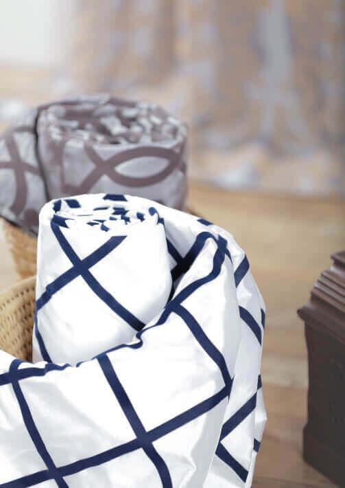Flocked Faux Silk Curtains